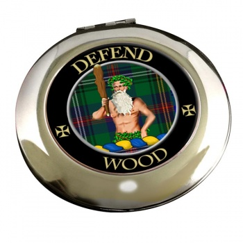 Wood Scottish Clan Chrome Mirror