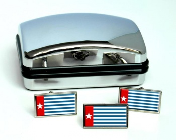 West Papua Flag Cufflink and Tie Pin Set