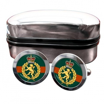 Women's Royal Army Corps Round Cufflinks