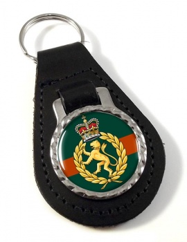 Women's Royal Army Corps Leather Key Fob