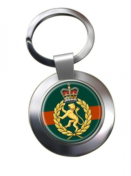 Women's Royal Army Corps Chrome Key Ring