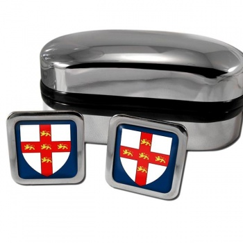 York England Square Cufflinks