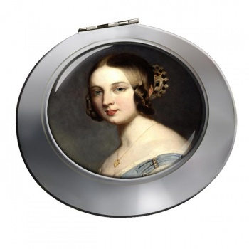 Young Queen Victoria Chrome Mirror