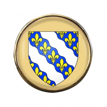 Yvelines (France) Round Pin Badge