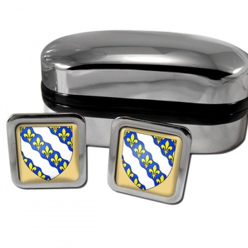 Yvelines France Square Cufflinks