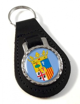 Zaragoza (Spain) Leather Key Fob