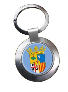 Zaragoza (Spain) Metal Key Ring