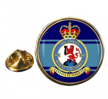 No. 102 Squadron (Royal Air Force) Round Pin Badge