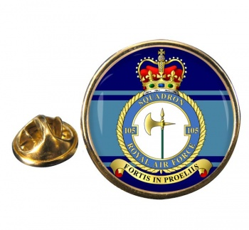 No. 105 Squadron Round Pin Badge