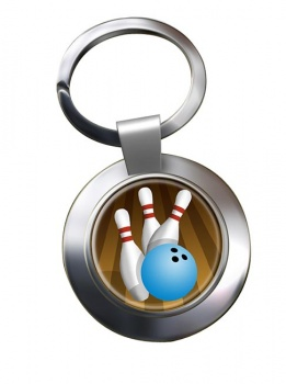 10 Pin Bowling Chrome Key Ring