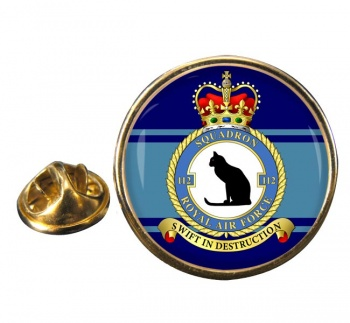No. 112 Squadron (Royal Air Force) Round Pin Badge