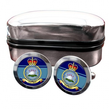 No. 117 Signals Unit (Royal Air Force) Round Cufflinks