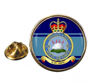 No. 117 Signals Unit (Royal Air Force) Round Pin Badge
