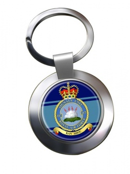 No. 117 Signals Unit (Royal Air Force) Chrome Key Ring