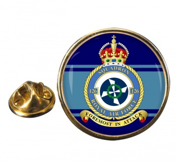 No. 126 Squadron (Royal Air Force) Round Pin Badge