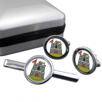 170 (Infrastructure Support) Engineer Group Round Cufflink and Tie Clip Set