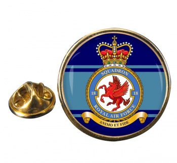 No. 18 Squadron (Royal Air Force) Round Pin Badge