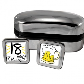 18 and Legal Square Cufflinks