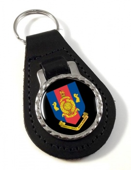 1 Assault Group Royal Marines (1AGRM) Leather Key Fob