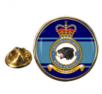 No. 1 Group Headquarters (Royal Air Force) Round Pin Badge