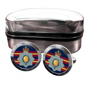 1st The King's Dragoon Guards (British Army) Round Cufflinks