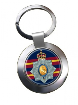 1st The King's Dragoon Guards (British Army) Chrome Key Ring