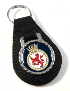 First Mine Counter Measures Squadron (MCM1) RN Leather Key Fob