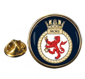 First Mine Counter Measures Squadron (MCM1) RN Round Pin Badge