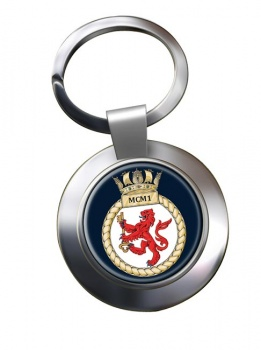 First Mine Counter Measures Squadron (MCM1) RN Chrome Key Ring