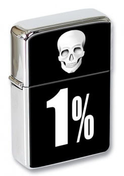 Outlaw Biker 1% Flip Top Lighter