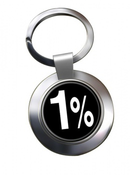 Outlaw Biker 1% Chrome Key Ring