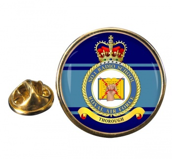 No. 1 Radio School (Royal Air Force) Round Pin Badge