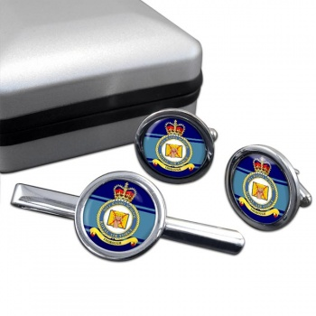 No. 1 Radio School (Royal Air Force) Round Cufflink and Tie Clip Set