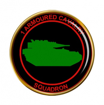 1st Armoured Cavalry Squadron (Ireland) Round Pin Badge