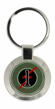 1st Armoured Car Squadron (Ireland) Chrome Key Ring