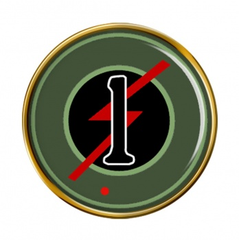 1st Armoured Car Squadron (Ireland) Round Pin Badge