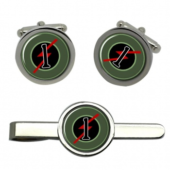 1st Armoured Car Squadron (Ireland) Round Cufflink and Tie Clip Set