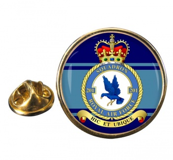 No. 201 Squadron (Royal Air Force) Round Pin Badge