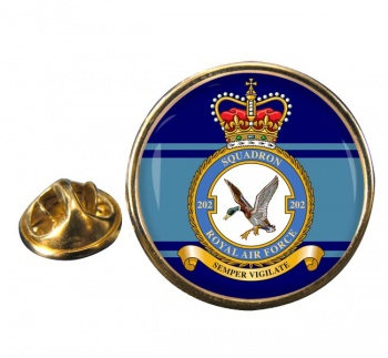 No. 202 Squadron (Royal Air Force) Round Pin Badge