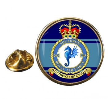 No. 203 Squadron (Royal Air Force) Round Pin Badge