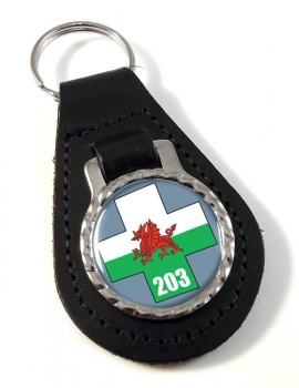 203 Field Hospital Leather Key Fob