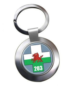 203 Field Hospital Chrome Key Ring