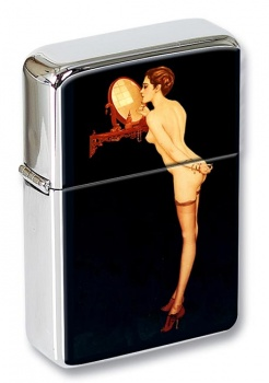 1920s Pin up Flip Top LIghter