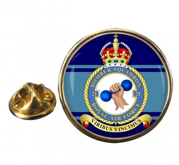 No. 21 Squadron (Royal Air Force) Round Pin Badge