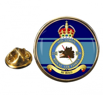 No. 229 Squadron (Royal Air Force) Round Pin Badge