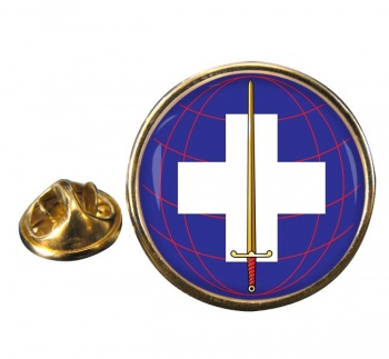 22 Field Hospital Round Pin Badge