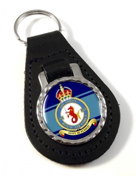 No. 243 Squadron (Royal Air Force) Leather Key Fob
