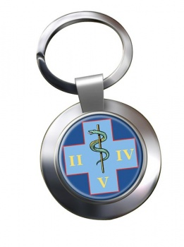 254 Medical Regiment (British Army) Chrome Key Ring