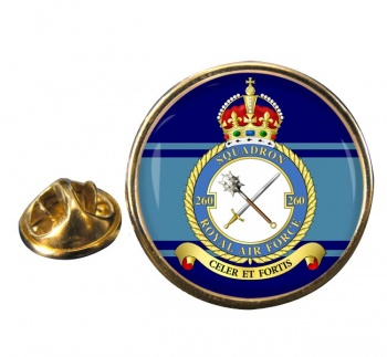 No. 260 Squadron (Royal Air Force) Round Pin Badge