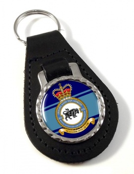 RAuxAF Regiment No. 2622 Leather Key Fob